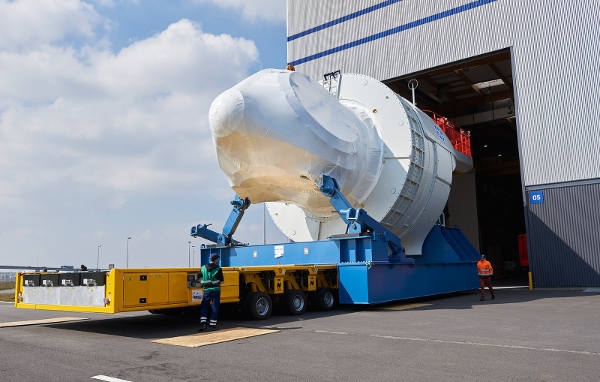 GE's first Haliade nacelles: from a cradle in Saint-Nazaire to the American coast