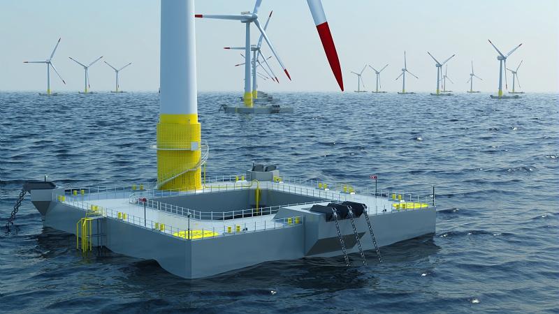 Une fondation d'éoliennes flotttantes