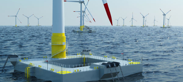 Floating turbine of French company Ideol