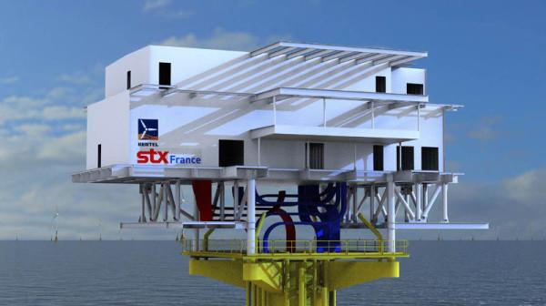 La sous-station électrique de STX